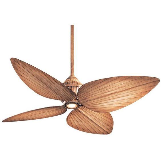 """52"""" Minka Aire Indoor Outdoor Beige Gauguin Ceiling Fan (645 AUD) ❤ liked on Polyvore featuring home, home decor, fans, ceiling fans, brown, antique white ceiling fan, outside home decor, indoor outdoor fans, palm leaf ceiling fan and outdoor fans"""