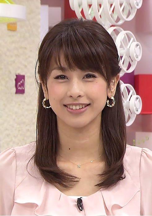 ハーフアップが似合う加藤綾子