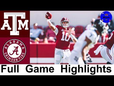 13 Texas A M Vs 2 Alabama Highlights College Football Week 5 2020 College Football Highlig In 2020 Alabama Football Roll Tide Football Highlight College Football