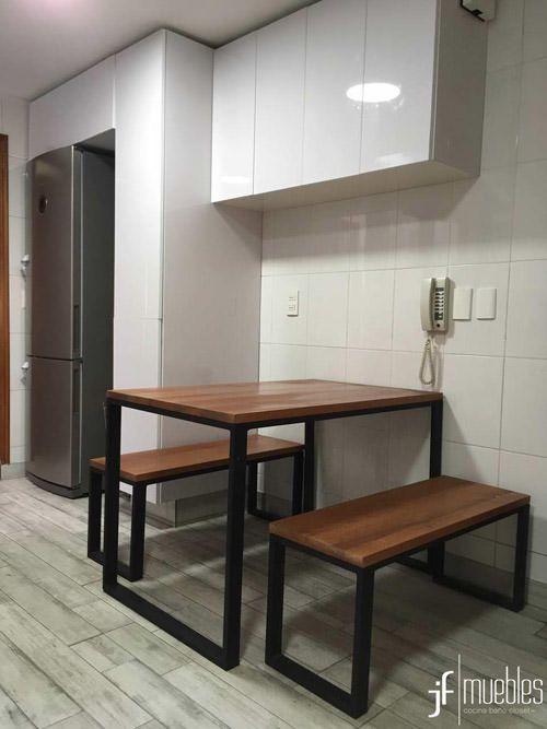 Muebles De Cocina En Melamina Alto Brillo Mesa Comedor En