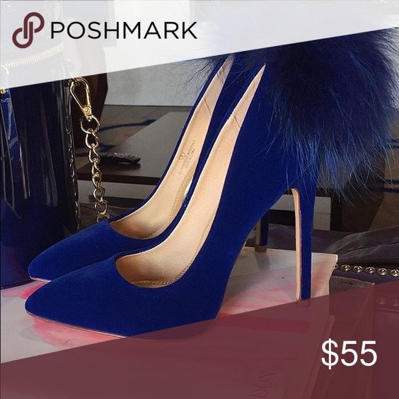 """Furry pump This pumps has a faux fur at the back heel height is 4.5"""" and true to size ..brand tagged is not to the brand ..no trades ..PRICE IS FIRM BCBG Shoes Heels"""