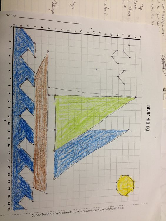 Worksheets Graphing Paper Using Math Points graph paper geometry and math activities on pinterest this was a activity that about plotting points but also incorporated art coloring