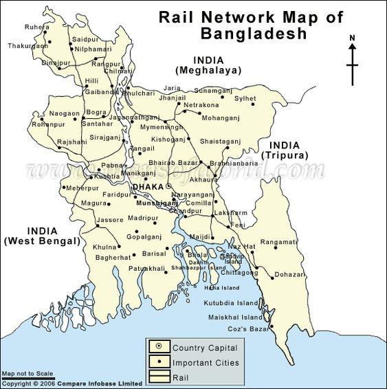 Bangladesh Rail Network Map Bangladesh Pinterest City - Saidpur map
