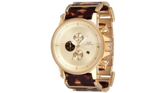 tortoise chronography watch