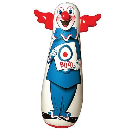 Bozo seems to be taunting you to knock his block off.