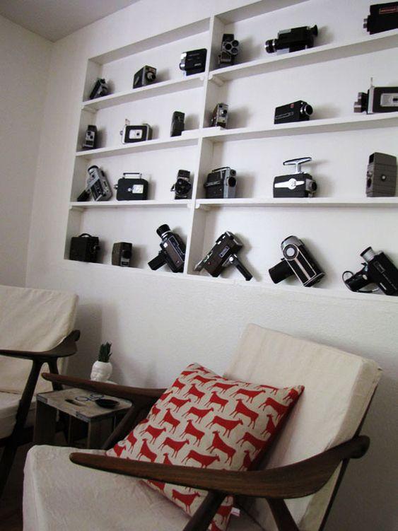 cameras on shelves | Ingenuity On Display: Ideas for Vintage Cameras Part 1