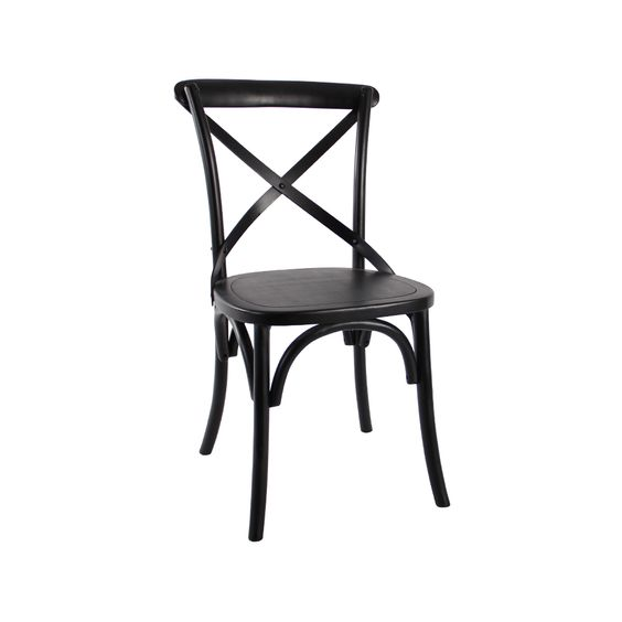 cross back bentwood chair in black black bentwood chairs