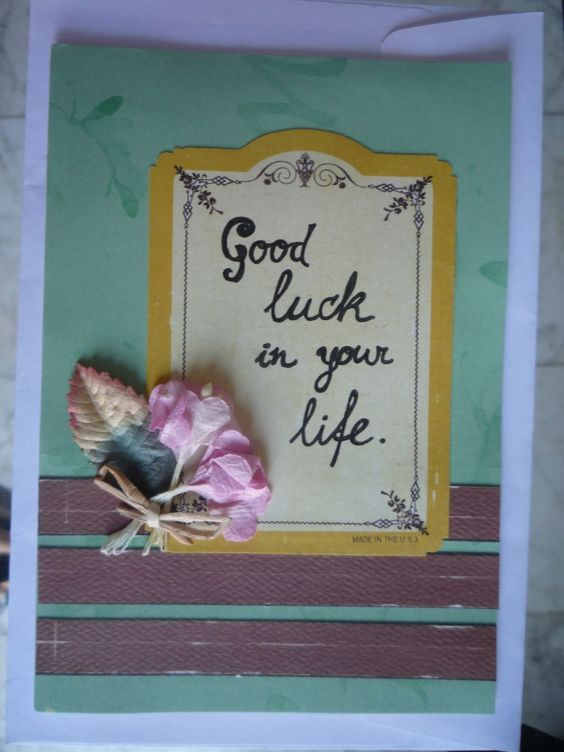 Good luck in your life | INS Créations