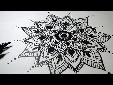 How To Draw Mandala Art For Beginners Very Easy Youtube Mandala Art Flower Drawing Tumblr Mandala Drawing