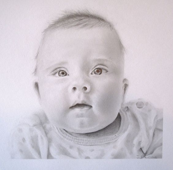 A drawing I created of my daughter. If you would like a custom infant drawing, please message sherringart@gmail.com. Search Jill Sherring Art on Facebook for the latest works and giveaways.