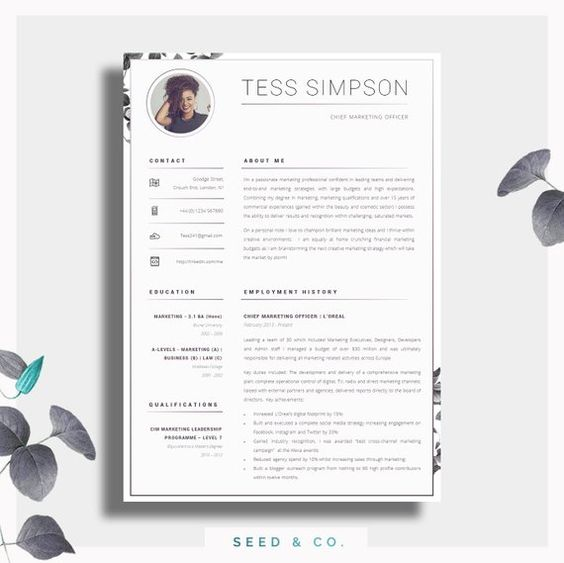 Cv Template Creative Resume Template Two Page Professional Cv Cover Letter Advice Printable For Word The Beauvoir Creative Cv Cv Template Creative Resume Creative Resume Templates
