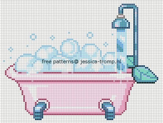 Pinterest o the worlds catalog of ideas for Bathroom cross stitch patterns free