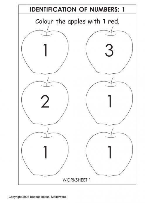 Printables Number One Worksheet For Preschoolers printable kindergarten worksheets math for kids preschool number 1
