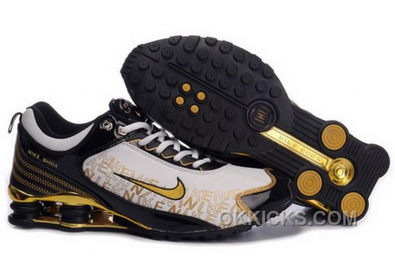 Nike Shox R5 608 Black Gold Men Shoes $79.59 | Leon | Pinterest | Nike shox,  Black gold and Gold