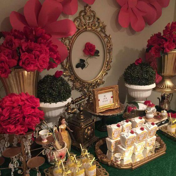 Belle / Beauty and the Beast Birthday Party Ideas Belle - decoracion de cumpleaos