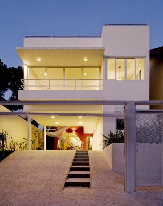 Minimalist Modern House Designs Fresh White Exterior Small Stair.  #modernhouse #home #sweethome | My Kind Of Home... | Pinterest | Modern  House Design, ...