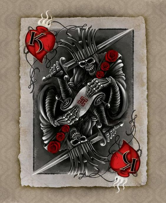 Suicide king card motorcycles build ideas pinterest for Suicide kings tattoo