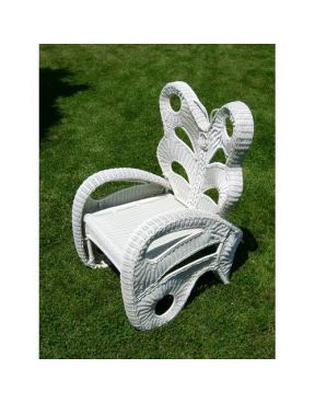 Butterfly Chair - Wicker White #wicker