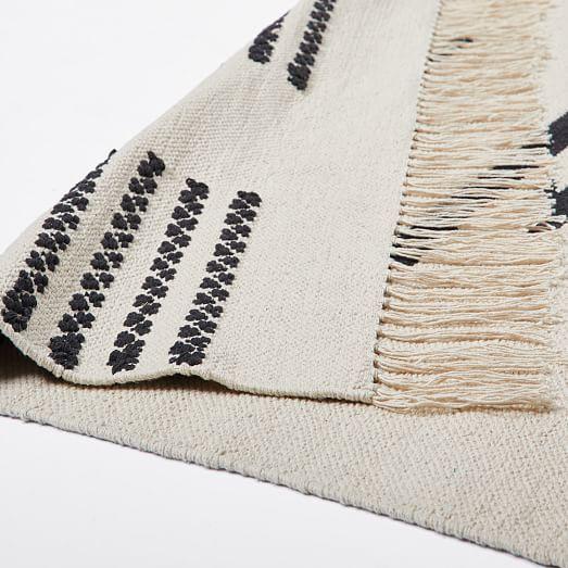 Pradera Cotton Rug In 2020 Modern Wool Rugs Jute Wool Rug Herringbone Rug