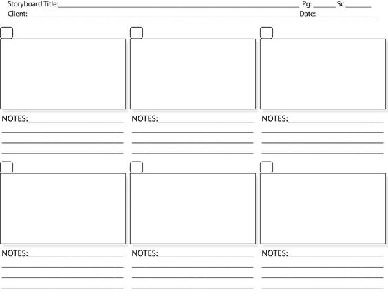 Storyboard Template Pdf   Story Board Template To The Point