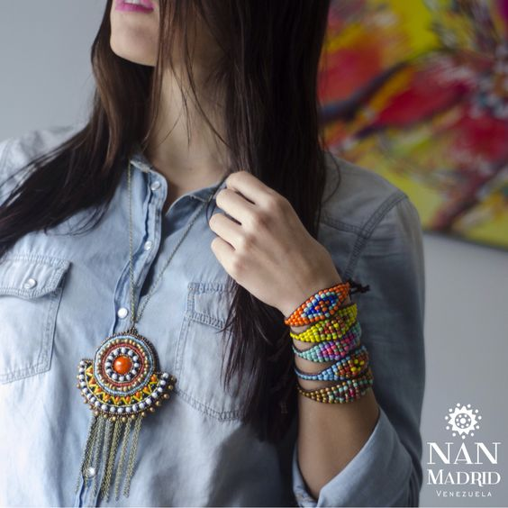 By Nan Madrid, Colgantes Mandalas y Brazaletes de ojo turco
