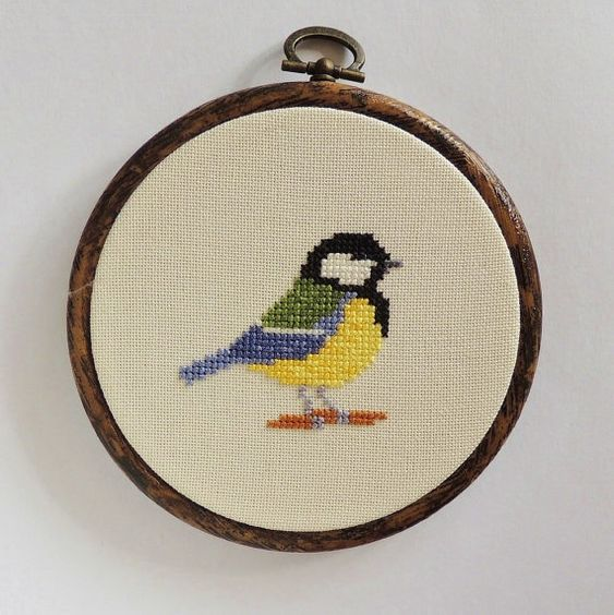 Hey, I found this really awesome Etsy listing at https://www.etsy.com/listing/248944422/cross-stitch-bird-great-tit-great