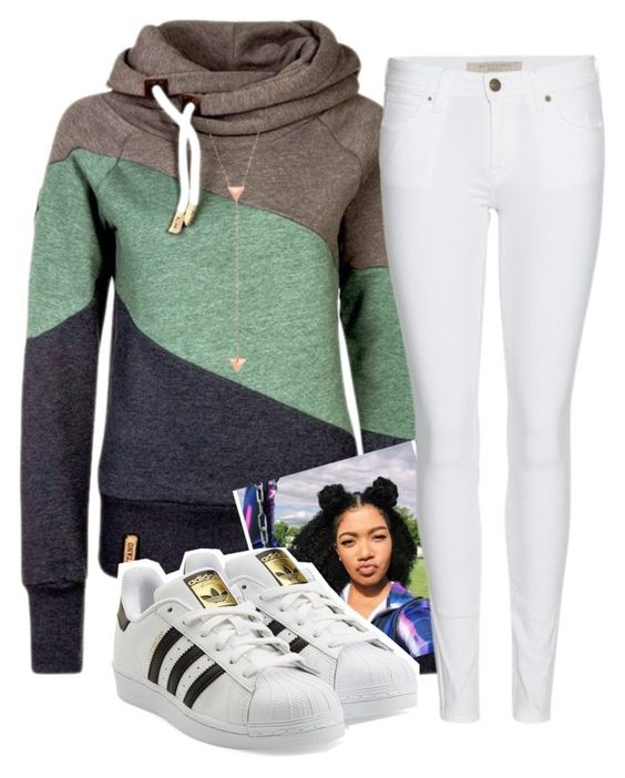 """""""Simplicity is key """" by xposed-nothings on Polyvore featuring Burberry, adidas Originals, women's clothing, women's fashion, women, female, woman, misses and juniors"""