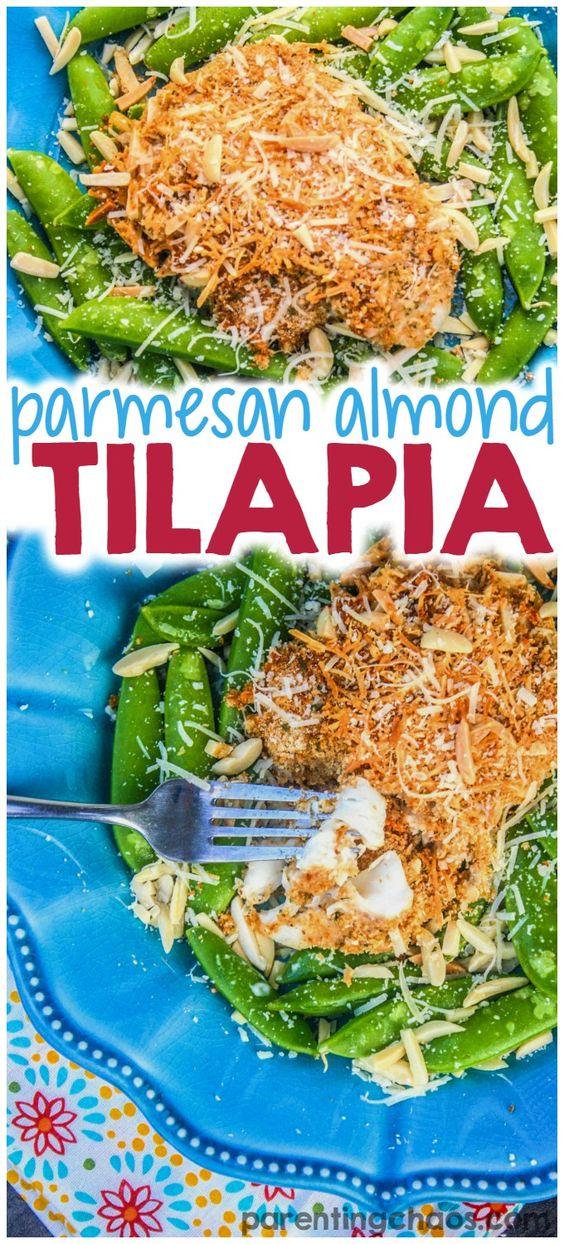 Baked Almond Parmesan Tilapia | Recipe | Parmesan Tilapia, Parmesan ...