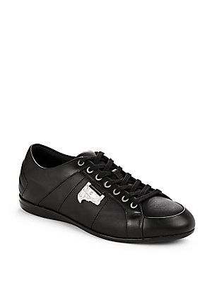 Versace Collection Lace-up Sneakers - Nero - Size 39 (6)