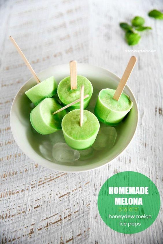 ... Honeydew Melon Ice Pops) | Recipe | Honeydew Melon, Ice Pops and Pop