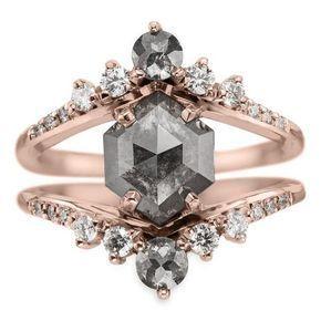 2 7 Carat Black Diamond Empress Engagement Ring Black Diamond Ring Engagement Best Engagement Rings Black Diamond Engagement