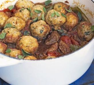 Pork goulash with herby dumplings (minus the dumplings for a healthy & gluten free dinner)
