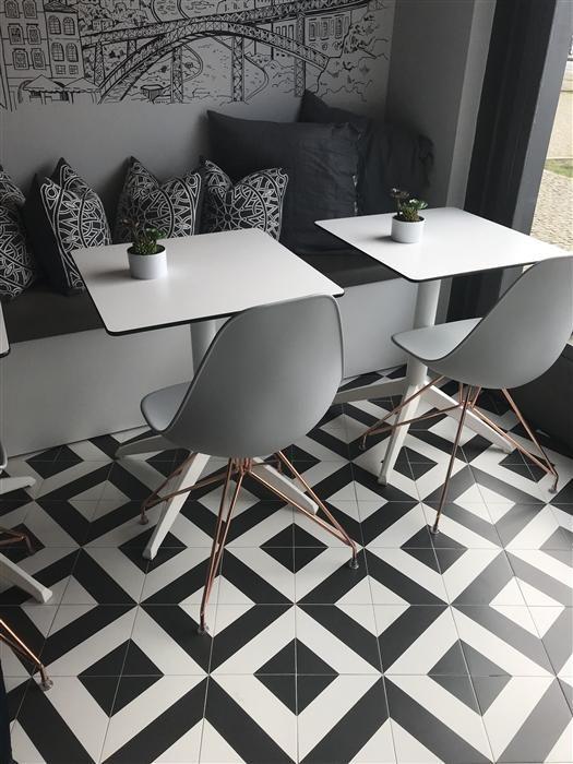 Geometrics Diago Noir Porcelain Tile 8 X 8 Floor Tile
