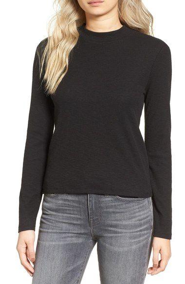 MADEWELL Carmen Mock Neck Sweater. #madewell #cloth #