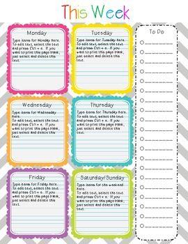 Teacher Planner Homework And Create Your Own On Pinterest