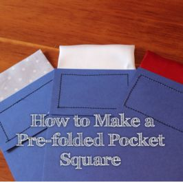 how to make a pocket square for a tux