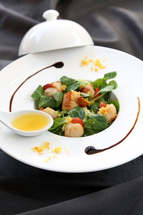 Salade de saint-jacques aux herbes