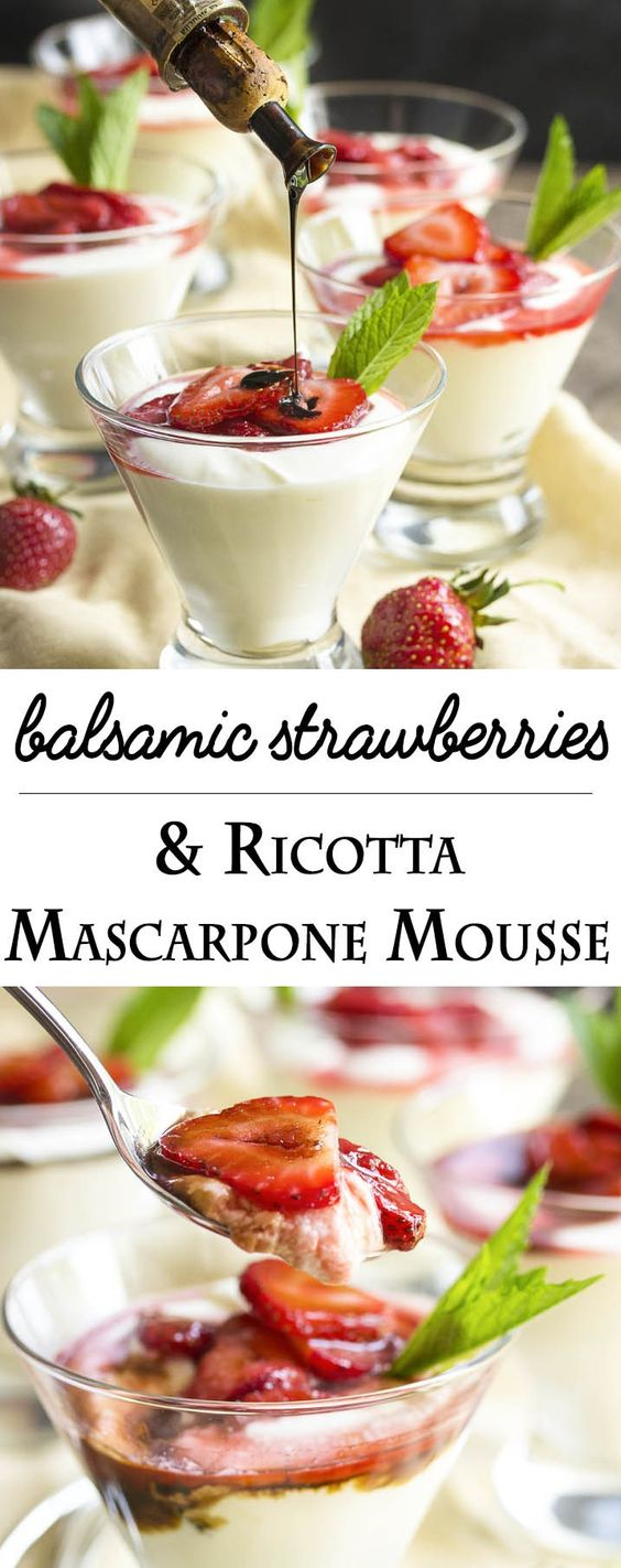 ricotta mascarpone and more mascarpone mousse ricotta strawberries ...