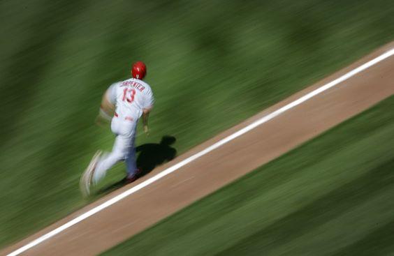 Matt Carpenter, del St. Louis Cardinal, durante el partido de béisbol disputado contra el Baltimore Orioles, en Baltimore, Maryland (EE UU)Historias en línea | Fotografía | EL PAÍS