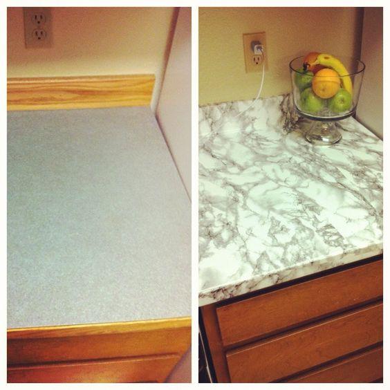 Diy Tile Countertop Removal: Contact Paper, Countertops And Contact Paper Countertop On
