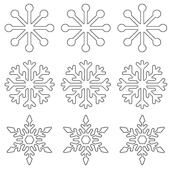 Snowflake Template To Trace from i.pinimg.com