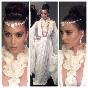 Wedding Hair Chain Kim Kardashian Bridal Accessory Crystal Forehead Jewelry