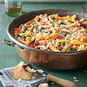One-Pot Pasta with Tomato-Basil Sauce | MyRecipes.com: