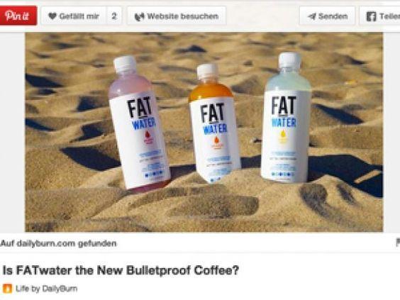 """Bulletproof Coffee war gestern – Fettwasser heißt der letzte Schrei! Der Erfinder verspricht, dass man durch das Trinken des """"Fat Waters"""" abnimmt."""