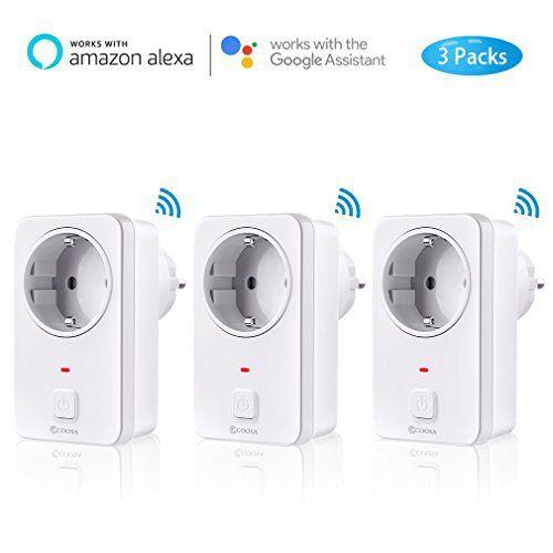 3-Packs Wifi Steckdose intelligente Steckdose kompatibal mit Alexa//Echo//Echo Dot