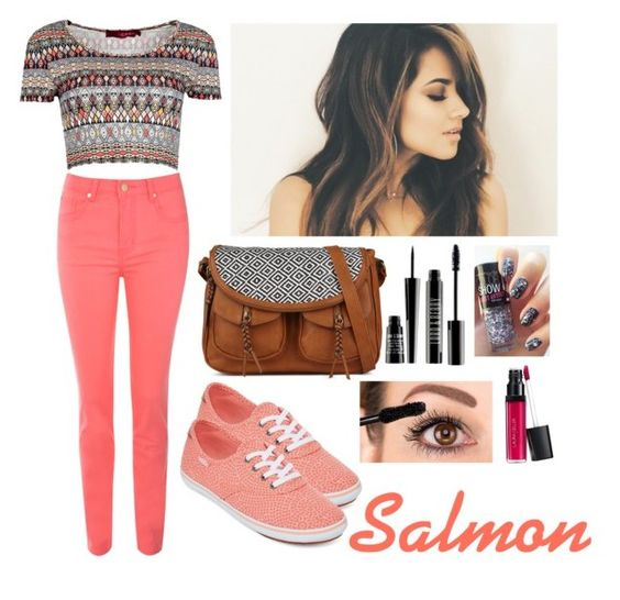"""""""Salmon"""" by cata-gaspar ❤ liked on Polyvore featuring beauty, Boohoo, Jane Norman, Vans, Lord & Berry and Laura Geller"""