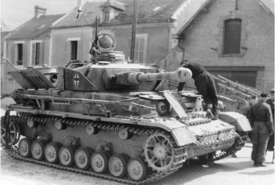 Panzer IV tank of German 12th SS Panzer Division 'Hitlerjugend' Rouen, France, 21 Jun 1944.
