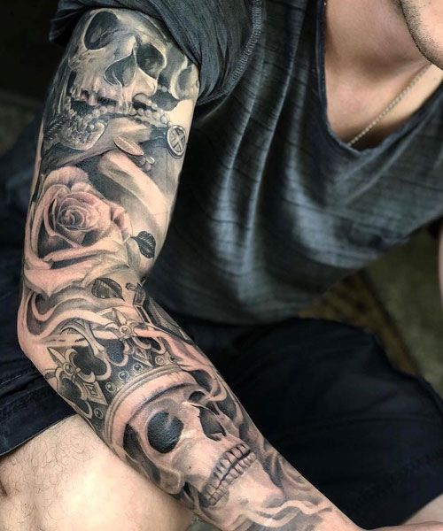 125 Best Sleeve Tattoos For Men Arm Tattoos For Guys Skull