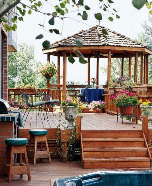 Boden Belag Aus Holz Garten Idee Gartenlaube Vertraulich Sitzecke Barstuhl Terassenideen Leben Unter Freiem Himmel Bessere Zuhause Und Garten