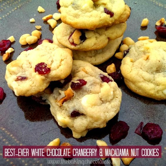 Best-Ever White Chocolate, Cranberry & Macadamia Nut Cookies